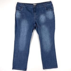 R438 Woman Within Women's Jeans Size 24 Color Blue